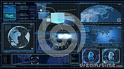 Technology Interface Computer Data Screen Gui Stock