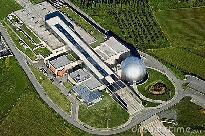 Technology Museum, Thessaloniki, Greece, aerial