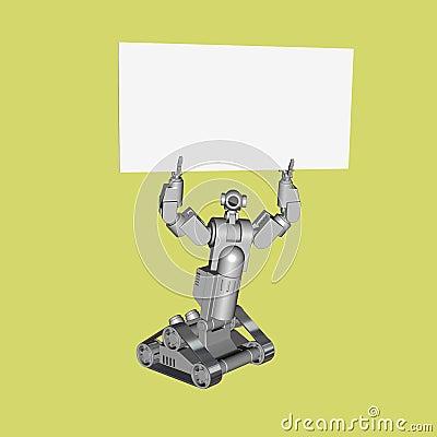Technology Robot Sign