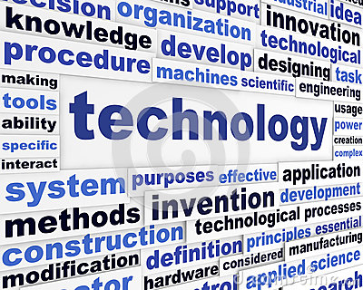 Technology scientific words design