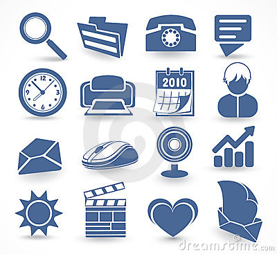 Free Technology Set Of Icons Stock Photo - 12562860
