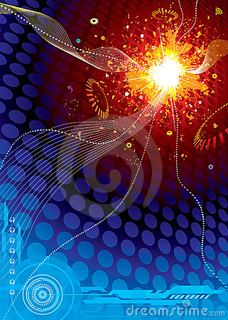 Free Technology Space Explosion Royalty Free Stock Photo - 5864085