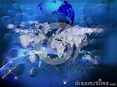 Technology of telecommunication created world business network