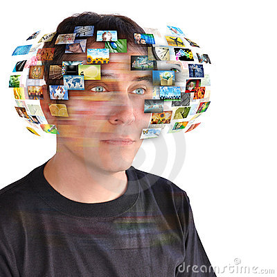 Free Technology TV Man With Images Royalty Free Stock Image - 18942636