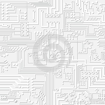 vector light gray circuit board pattern royalty free stock