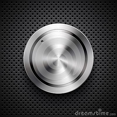Free Technology Volume Button With Metal Texture Royalty Free Stock Photos - 27758488