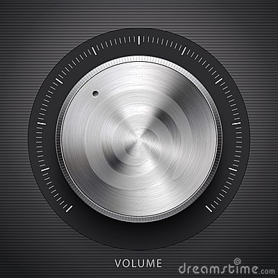 Free Technology Volume Button With Metal Texture Royalty Free Stock Photos - 27758508