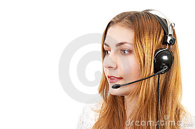 Techsupport girl on the phone
