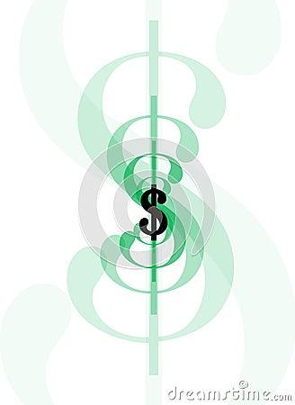 Tecken för dollar line1