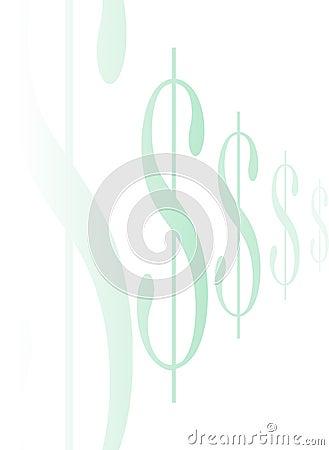 Tecken för dollar line2