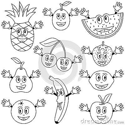 Tecken som färgar frukt