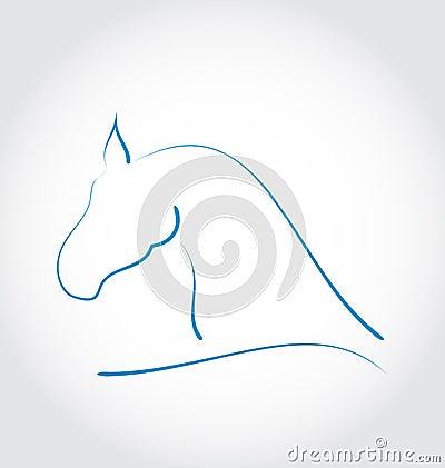 Teckenhäst på vit bakgrund