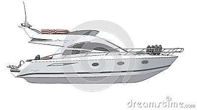 Teckningsdemonstrationsfartyg stock illustrationer