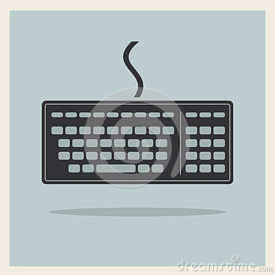 Teclado de computador clássico