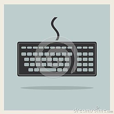 Teclado de ordenador clásico