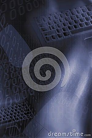 Teclados, números binários e fundo do rato