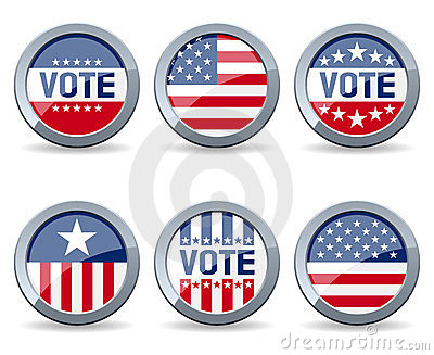 Teclas da campanha de eleição dos E.U.
