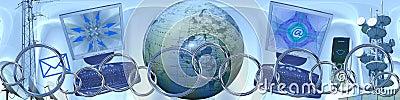 Tecnologia e collegamenti in tutto il mondo