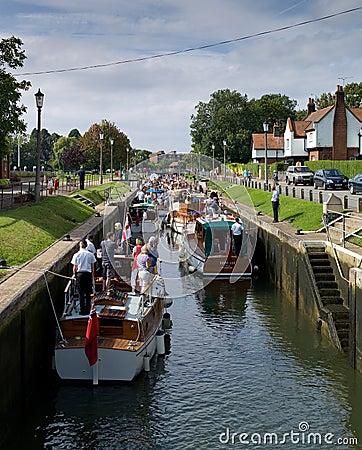 Teddigton lock, Surrey, England Editorial Image
