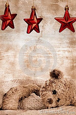 Free Teddy Bear And Stars Stock Photos - 16728573