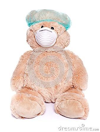 Teddy bear as a doctor