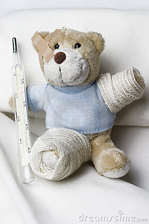 Teddy bear as a patient