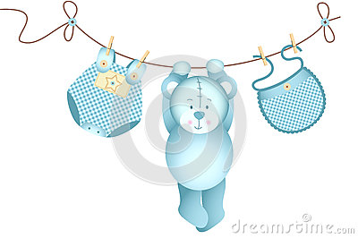Its A Boy Teddy Bear Royalty Free Stock Image - Image: 32215446
