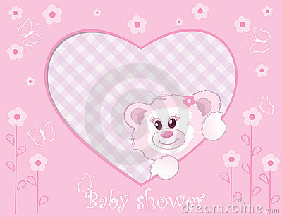 Teddy bear for baby girl