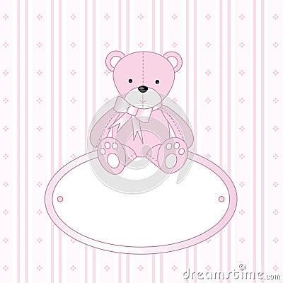 Teddy bear for baby girl
