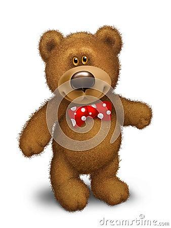 Teddy bear with a bow