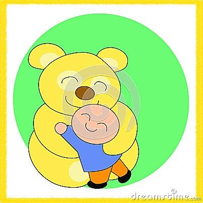 Teddy Bear and the boy_2
