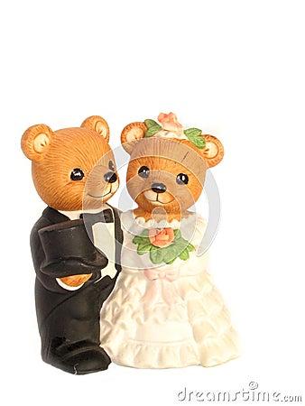 Teddy Bear Bride and Groom