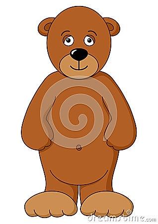 Teddy-bear brown isolated