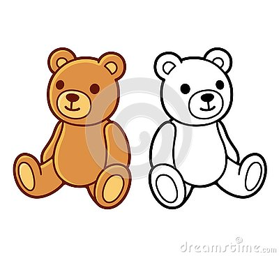 Free Teddy Bear Drawing Stock Images - 132561184