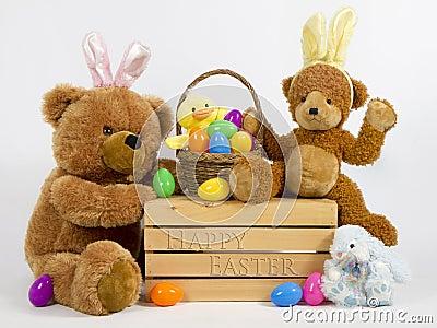 Teddy bear easter picknik