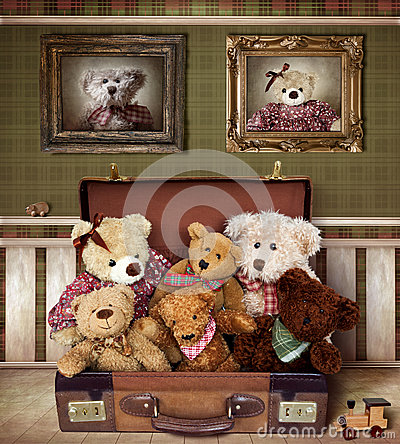 Free Teddy Bear Family Royalty Free Stock Images - 25361969