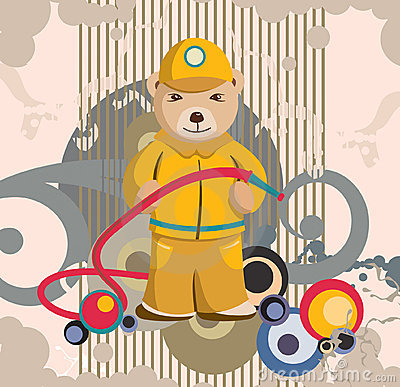 Teddy Bear Fireman Background