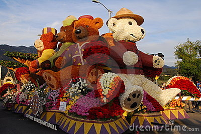 Teddy Bear Float at the 122nd tournament of roses Editorial Stock Photo