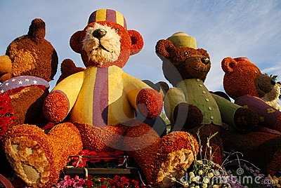 Teddy Bear Float at the 122nd tournament of roses Editorial Image