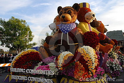 Teddy Bear Float at the 122nd tournament of roses Editorial Photography