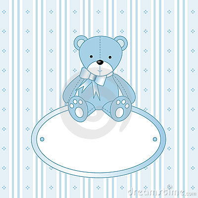 Free Teddy Bear For Baby Boy Stock Images - 4645704