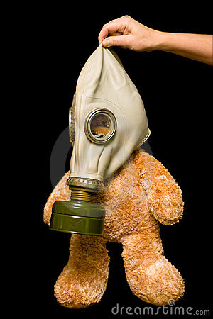 Teddy Bear In A Gas Mask Stock Image Image 7208071
