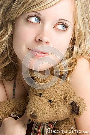 Free Teddy Bear Girl Royalty Free Stock Image - 3359556