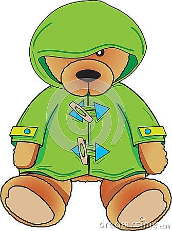 Teddy Bear in green coat