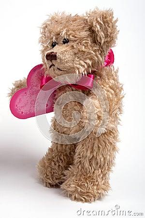 Teddy bear with heart. Valentine s day