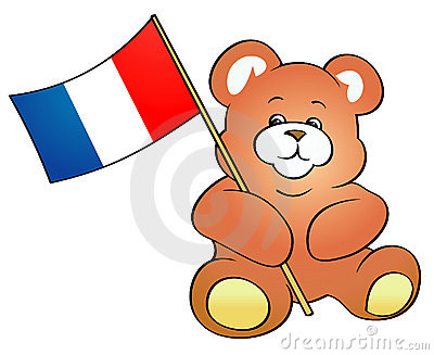 Teddy Bear holding French flag