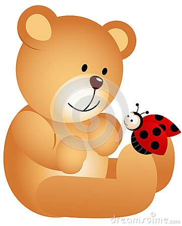 Teddy Bear with Ladybird