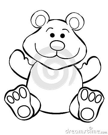 Teddy Bear Line Art