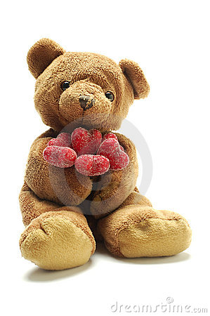Teddy bear in love