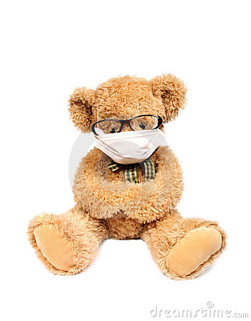 Teddy bear with mask